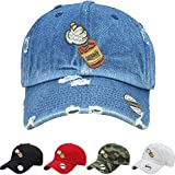 ALLNTRENDS Adult Hat Mickey Hands Henny Vintage Dad Hat Embroidered (Camo)