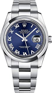 Rolex Datejust 36 116200 Blue Roman Numeral Dial Oyster Men's Watch