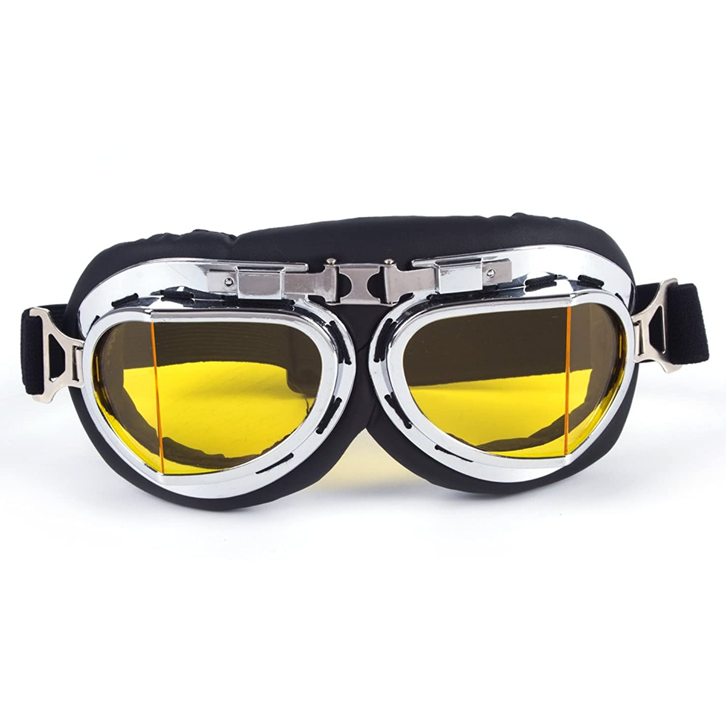 OMG_Shop Ski Snow Motorcycle ATV Off-Road Goggle Eyewear Black Frame Clear Lens