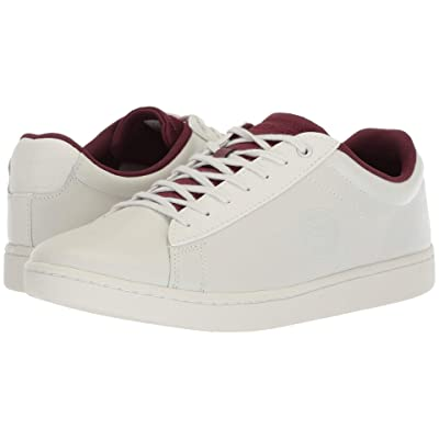 Lacoste Carnaby Evo 418 2 (Off-White/Burgundy) Women