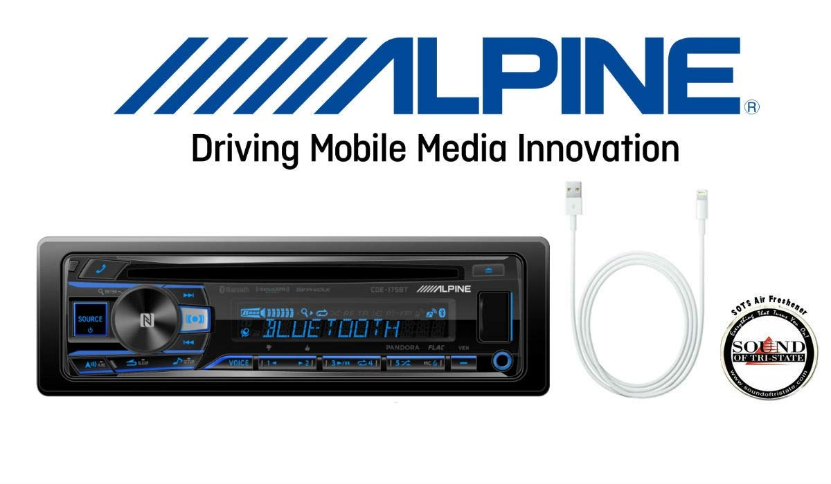 ALPINE CDE 175BT Receiver built Bluetooth
