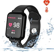 Smart Watch for Android and iOS Phones with Heart Rate & Blood Pressure Monitor, Sleep Monitort, Information Reminder & Step Counter Waterproof Fitness Tracker for Men, Women and Kids