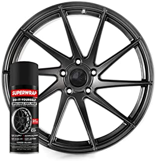 Superwrap Sprayable Vinyl Wrap - High Gloss Finish - Covers 4 Car Wheels Up to 19