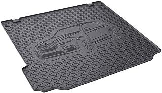 Passgenau Kofferraumwanne geeignet für BMW X5 F15 ab 2013 ideal angepasst schwarz Kofferraummatte + Gurtschoner
