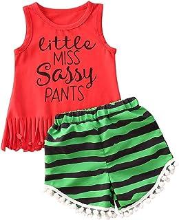 ملابس أطفال طفل رضيع فتاة ملابس طباعة حرف شرابة سترة قمم شورت مجموعة أزياء الصيف للبنات