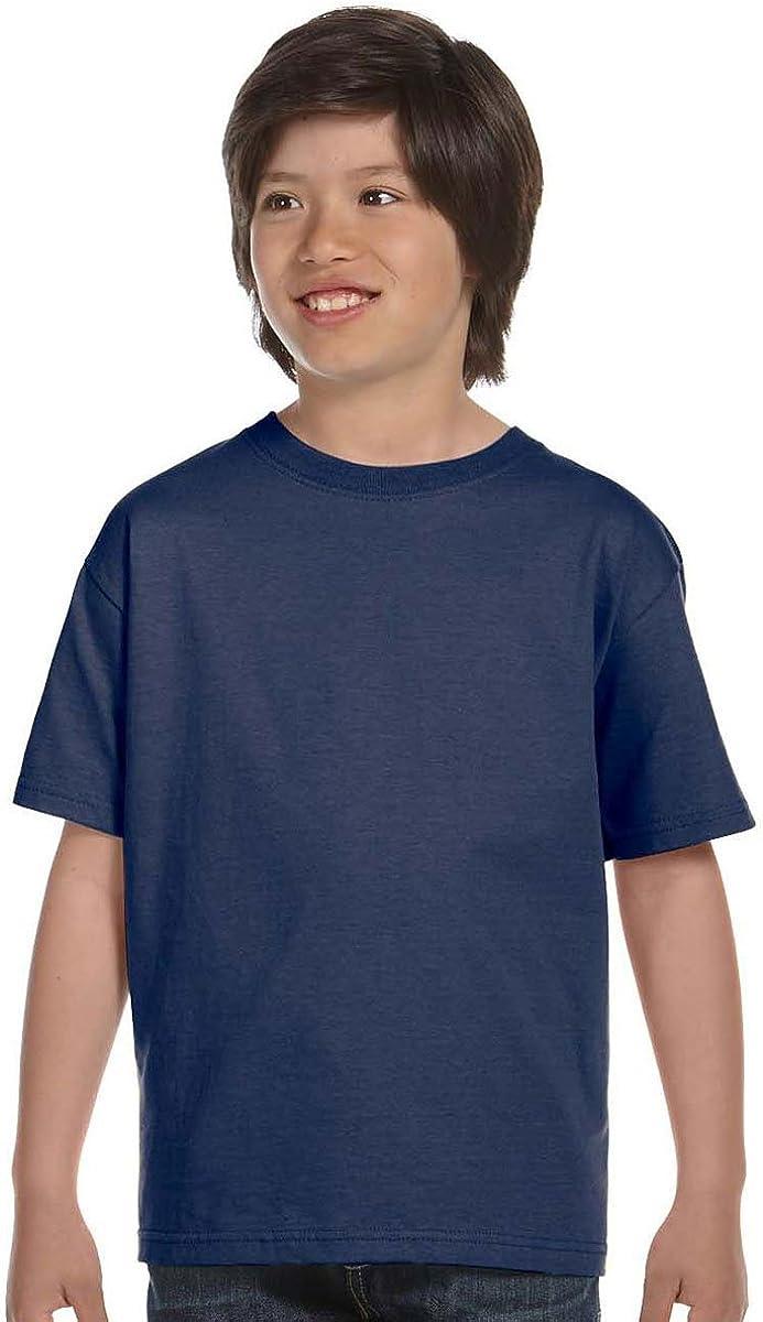 Hanes Boys' TAGLESS ComfortSoft Crewneck T-Shirt_Deep Royal_M