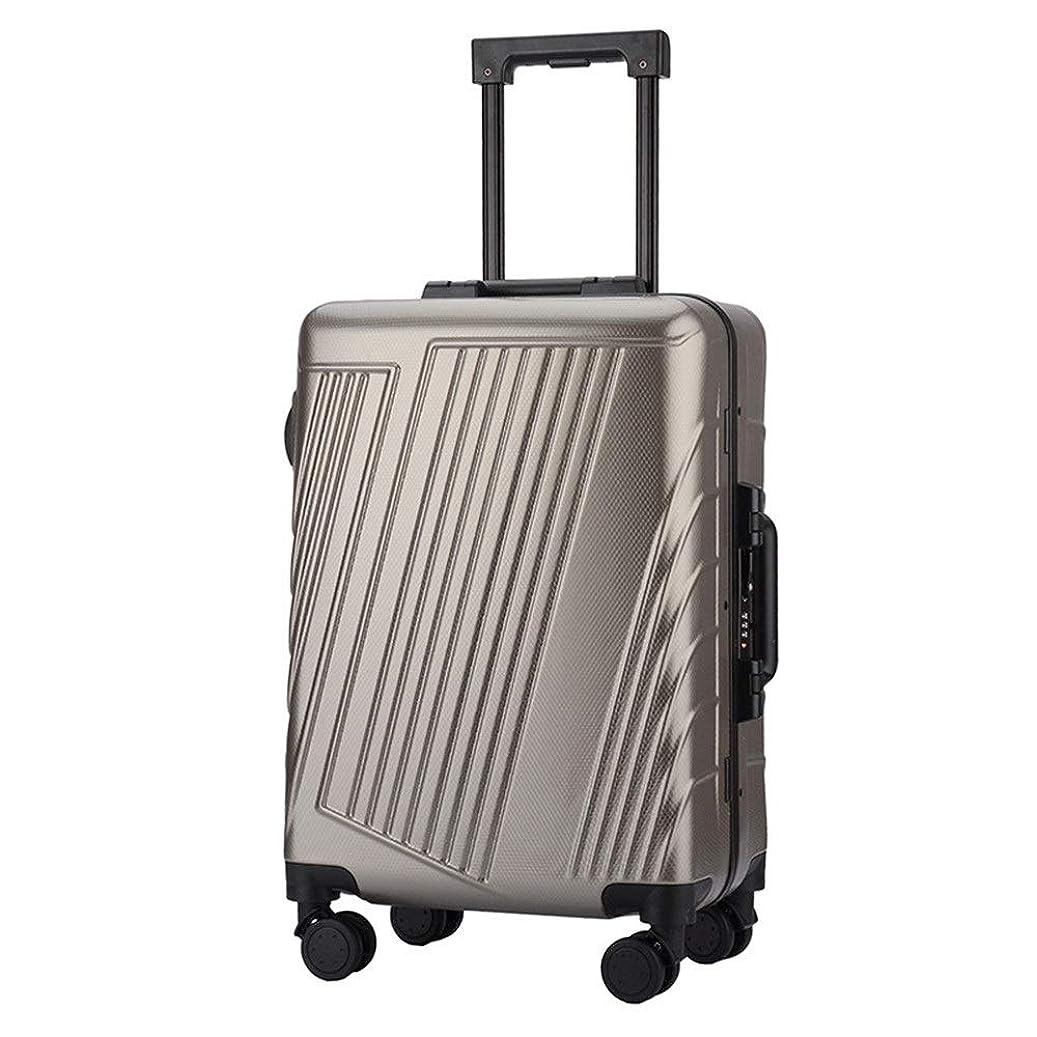 としてリール回転させるスーツケース スピナトラベル荷物トロリーケースTSAロック付き荷物軽量軽量キャリーオンアップライトスーツケース360°サイレントスピナー多方向ホイール飛行機のフライトチェックイン20インチ24インチ (色 : ブロンズ, サイズ : 20inches)