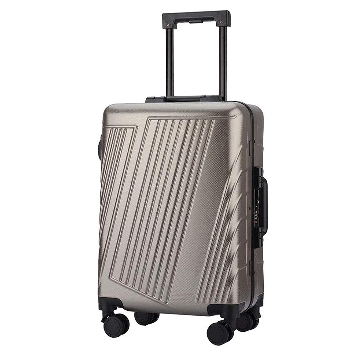 立証する液体四半期スーツケース TSAロック付き回転トラベルトロリーハードケース軽量ポータブルコラム荷物サイレントローテーターマルチディレクター航空機搭乗 多機能省スペース機内持ち込みスーツケース (色 : ブロンズ, サイズ : 24inches)