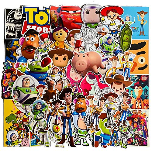 YLGG 50 pieces Toy Story waterproof graffiti stickers for laptops, skateboards, suitcases, helmets, mobile phones, motorcycles, etc