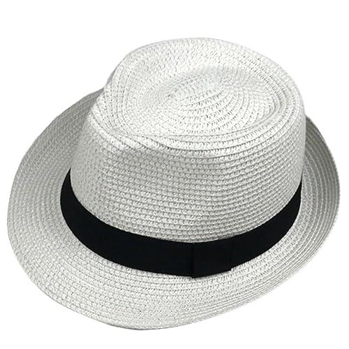 Leisial Bebé Niños Verano Sombrero de Jazz Paja Hueco Gorro Protector Solar  Sombrero de Playa Sol 1b6b059f404