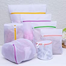 Laundry Bag 7pcs Zippered Foldable Laundry Bag Bra Socks Underwear Clothes Washing Machine Protection Net Mesh Bags