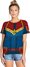 Womens Mens Superhero Captain T-Shirt Endgame Quantum Realm Costume Graphic Shirts Tops