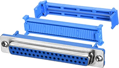 uxcell IDC D-Sub Ribbon Cable Connector 37-pin 2-Row Female Socket IDC Crimp Port Terminal Breakout for Flat Ribbon Cable Pack of 20