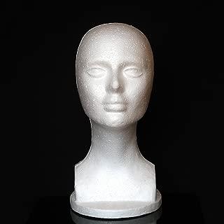 Wig Head gLoaSublim,Female Foam Mannequin Manikin Head Model Shop Wig Hair Jewelry Display Stand