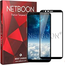 NETBOON® Premium Tempered Glass Edge To Edge Coverage Screen Protector Screen Guard Gorilla Glass for OnePlus 5T- Black