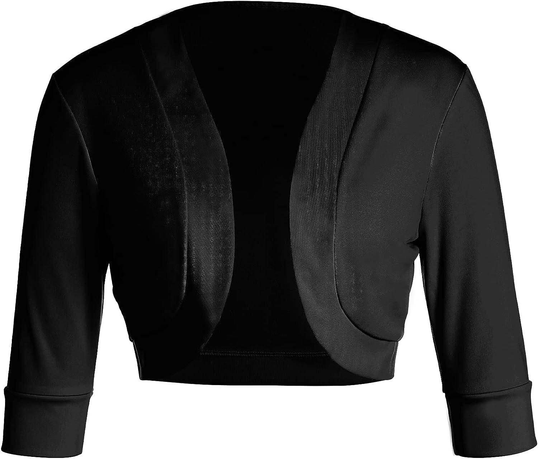 Women's Long Sleeve Shrug Open Front Cotton Cardigan Bolero Jacket Summer Y2K E-Girls Crop Tops Sweater