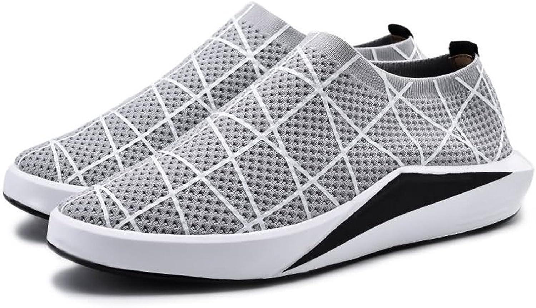 Easy Go Shopping Herren Athletic Flat Heel Volltonfarbe Freizeitschuhe,Grille Schuhe