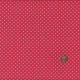 100% Baumwolle Stoff | Rot und Weiß | Kleine Punkte |