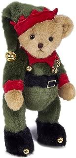 Bearington Jingle Toes Plush Christmas Elf Teddy Bear, 14