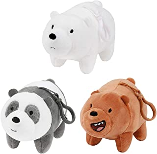 We Bare Bears Cartoon Network Ice Bear Grizzly Panda Plush Teddy Bear Gift Set of 3