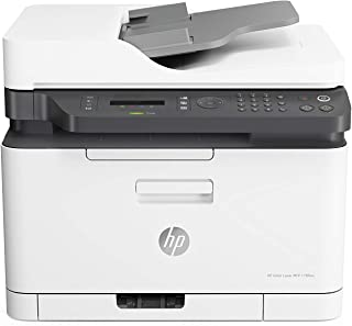 HP Color Laser MFP 179fnw - Impresora láser multifunción (Imprime, Copia y escanea, 18/4 ppm, LED, USB, FAX, WiFi), Blanco...