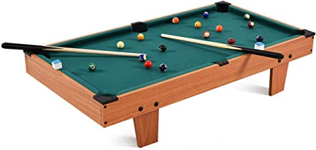 Goplus 36-Inch Billiard Table, Mini Indoor Tabletop Pool Set w/Balls, Sticks, Chalk, Brush and Triangle, Great Gift for Boys and Girls