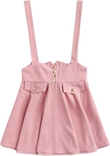 Women's Casual Straps High Waist Suspender Skirt Pinafore Overall Dress