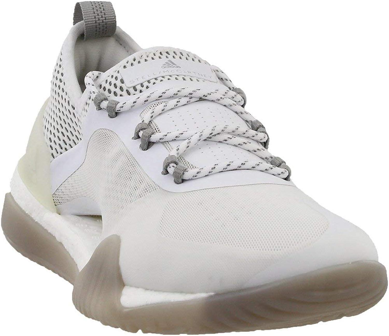 Adidas by Stella McCartney Women's Pureboost X TR 3.0 White Stone Grey Black 8 M US