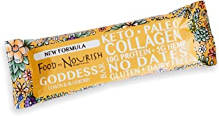 Food to Nourish Lemon and Blueberry Collagen Bar, 40 g