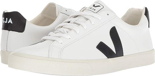 Extra-White/Black Leather