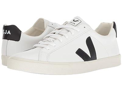 VEJA Esplar (Extra-White/Black Leather) Athletic Shoes
