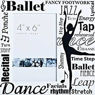Ballet Collection 8 by 8-Inch Roman Exclusive All Dance Decorative Photo Frame, Holds 4-Inch by 6-Inch Photo (74810)