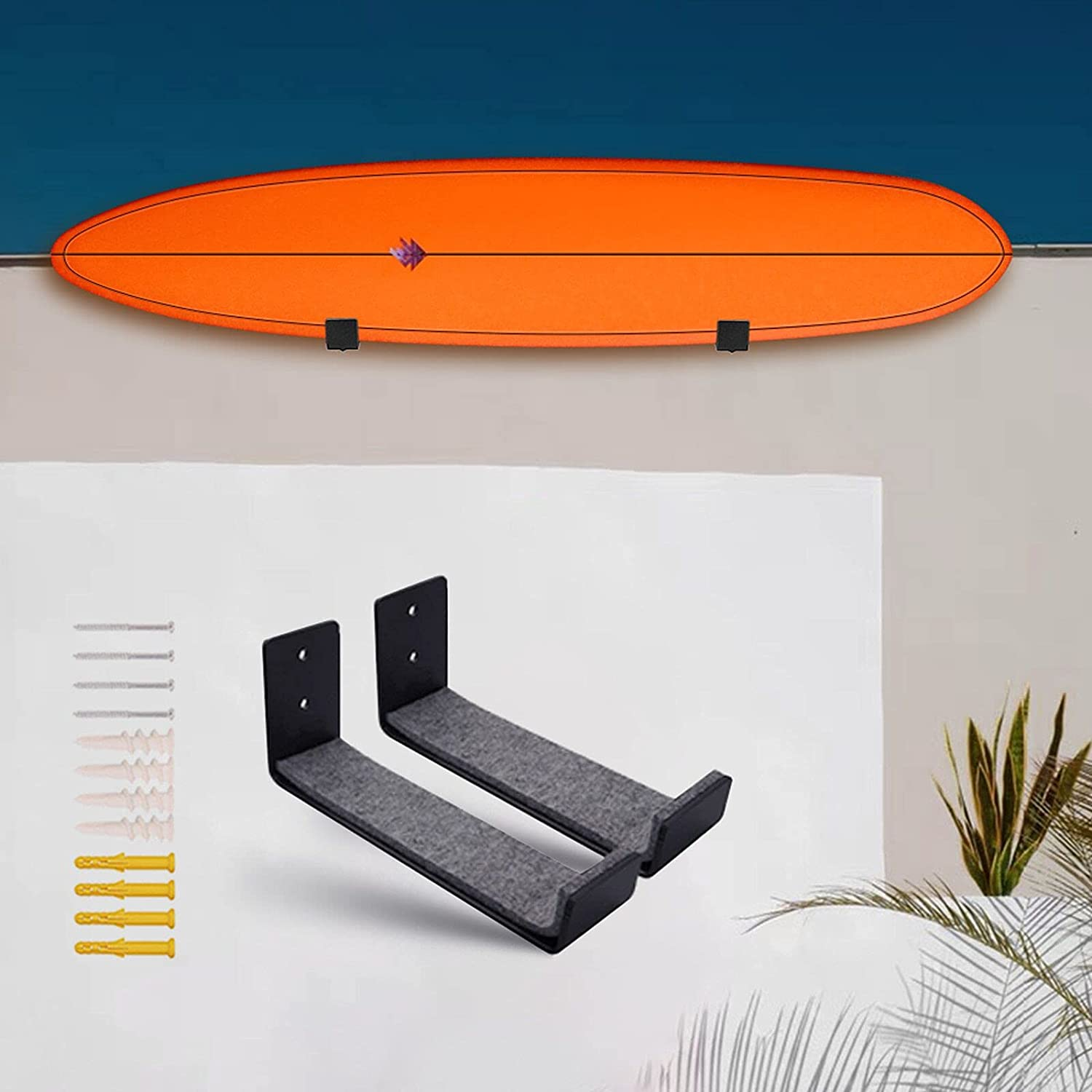 YUTIANHOME Surfboard Rack Wall NEW Mount Padding Snowb Felt Storage sold out