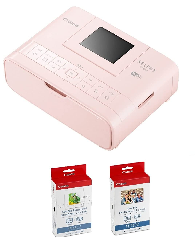 ジェットドラゴン変わるCanon プリンター SELPHY CP1200PK カードプリントキット ピンク