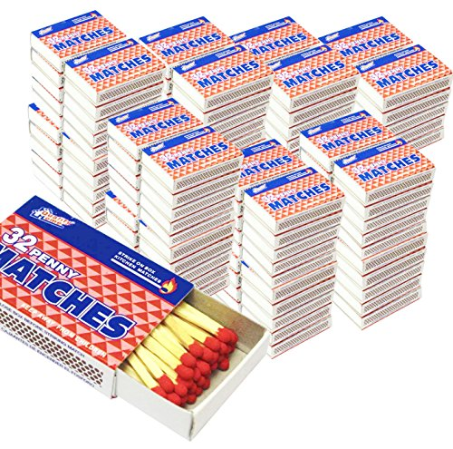 100 Boxes - Wooden Kitchen Matches, Strike On Box Type