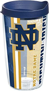 Tervis 1272286 Notre Dame Fighting Irish College Pride Tumbler with Wrap and Navy Lid 16oz, Clear