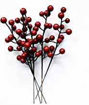 6 Real Holly Sprigs Sprays environ 30 cm Long Fresh Cut to order-baies rouges