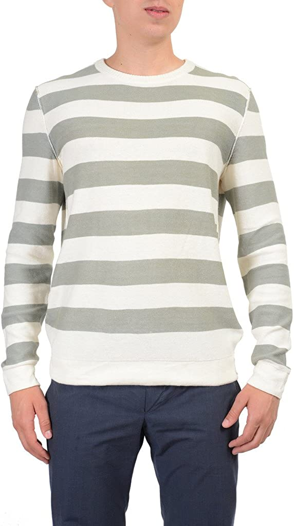 Kenneth Cole Multi-Color Striped Crewneck Men's Pullover Sweater