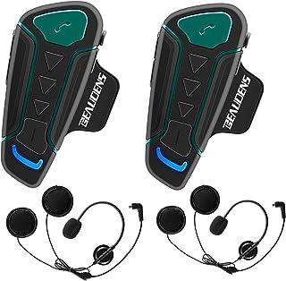 comprar comparacion Intercomunicador Casco Moto Bluetooth, BEAUDENS Comunicación Intercom, Gama de 1200m, IPX6 Impermeabilidad, Intercomunicac...