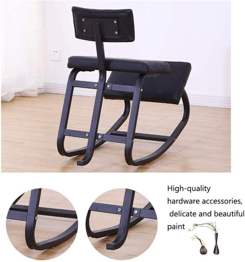 Fauteuil Genoux Chaise de bureau parfait for le corps et soulager le stress Shaping genou Bureau Tabouret Chaise tabouret (Color : Blue) Pink