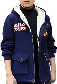 ZUOMAボーイズ 子供服 綿入れ上着 裏起毛 厚手カジュアルコート フリースコート 防風