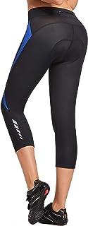 BALEAF Women's 3D Padded Cycling Pants Bike Shorts Capris Breathable 3/4 Tights UPF 50+