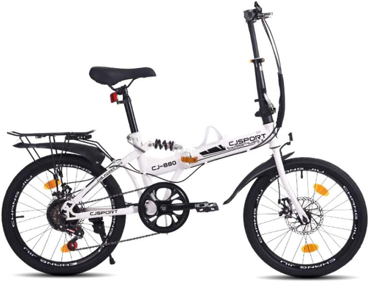 AOHMG Folding Bike Adult 6Speed Foldable Bike, Lightweight Durable Frame Comfort Saddle