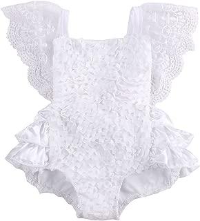 Newborn Baby Girls Lace Floral Cake Bodysuit Romper Jumpsuit Backless Sunsuit Outfits
