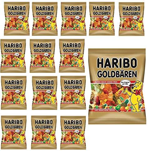 Haribo Goldbären Gummibärchen, 15 x 100g Beutel, 1,5 kg