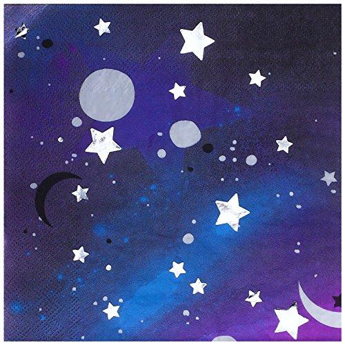 """InviteMe 20 Galaktische Papierservietten aus der Serie """"Galaxy"""" – Weltraum Party"""