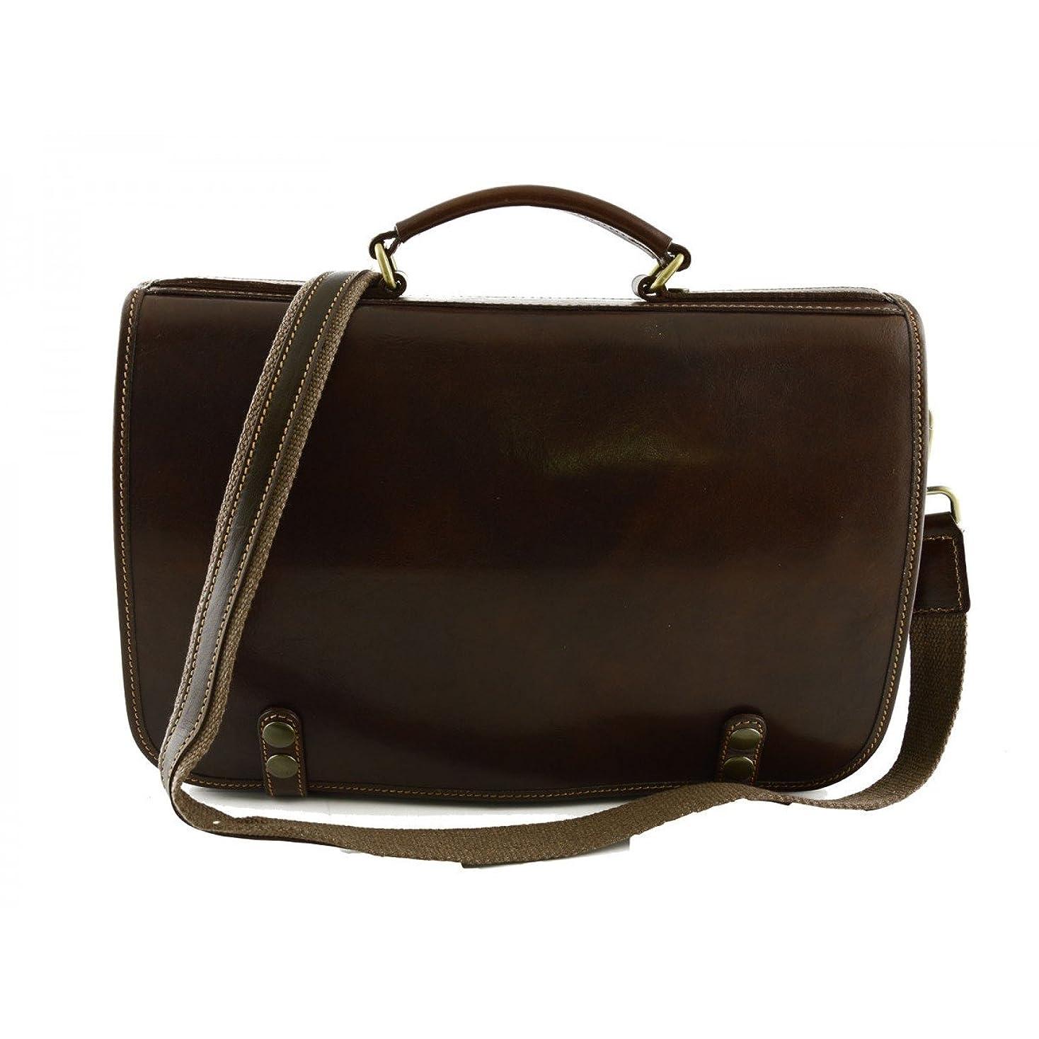 ベンチ増強造船Made In Italy Genuine Leather Business Bag Color Brown - Business Bag