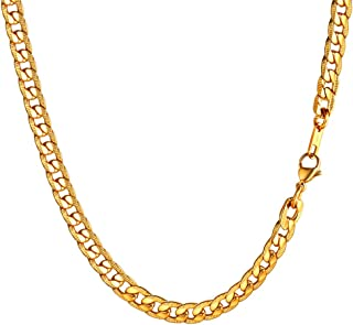 FOCALOOK Collar Hombre Cadena Trigo Espiga 3mm Cadena B/ásica para Colgante de Acero Inoxidable Ba/ñado en Oro//Oro Rosado//Negro 45-70cm Opcional con Caja de Regalo