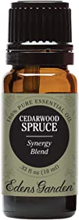 Edens Garden Cedarwood Spruce Essential Oil Synergy Blend, 100% Pure Therapeutic Grade (Cold Flu & Congestion) 10 ml