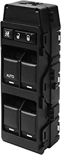 Master Power Window Switch Front Left Driver Side | with 1 Single AUTO Button | for Chrysler 200 300 Sebring Dodge Avenger Caliber Charger Magnum Jeep Compass Patriot | #4602780AA, 4602780AB